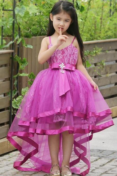 New Fancy Flower Girl Princess Prom Party Wedding Bridesmaid