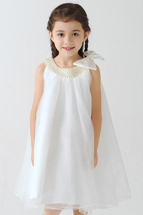 Kids Girls Wedding Flower Girl Dress Princess Party Pageant Formal Dress