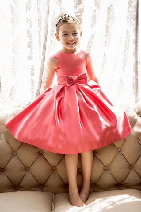 Elegant Flower Girl Dress birthday party dress Bridesmaid Dresses ball gown kids clothing