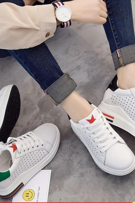 New Hot Sale Sports Casual Shoes Breathable Heighten Student Women Shoes nx22