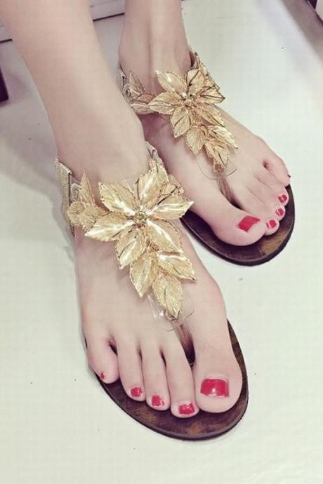 Fashion Flower Women Sandals Slippers Flats Shoes Single Shoes Casual Shoes NX58