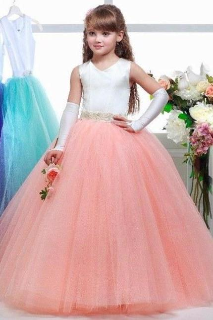Hot Sale Charming Girls Dresses Flower Girls Dresses Children Evening Dress
