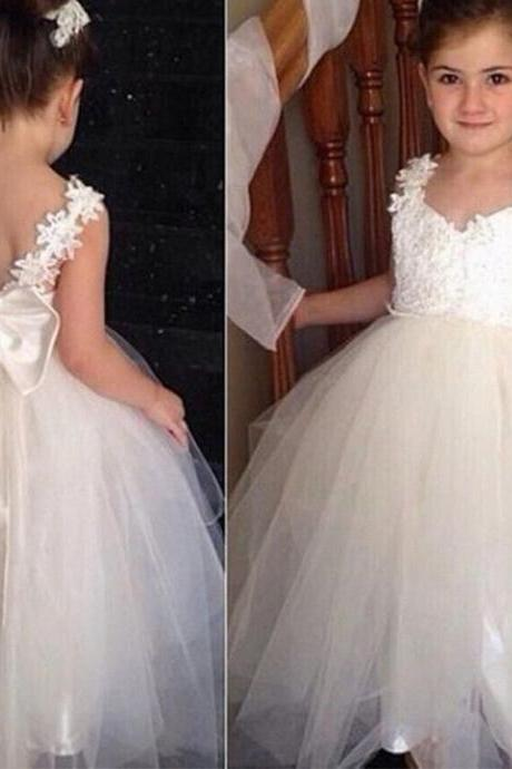 Flower Girl Dress Girl Communion Party Prom Princess Pageant Bridesmaid Wedding Flower Girl Dresses YTZ49