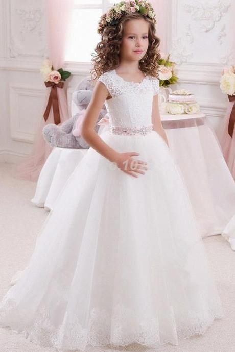 Flower Girl Dress Girl Communion Party Prom Princess Pageant Bridesmaid Wedding Flower Girl Dresses YTZ53