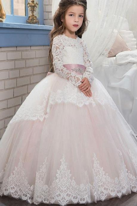 Charming Kids Pageant Formal Ball Gown,Princess Flower Girl Dresses,Prom Dress,Wedding Party Dress,Bridesmaid Dresses,Girl Dress TF01