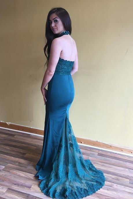 Mermaid Open Back Prom Dress,Bridesmaid Dress,Formal Party Dress WD406